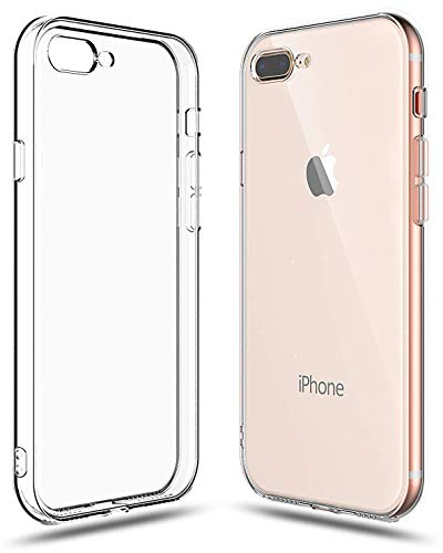 Shamo's Case for iPhone 7 Plus and iPhone 8 Plus Shock Absorption TPU Rubber Gel Transparent with Smudge-Free Technology, Soft Cover Clear Silicone Gel Case