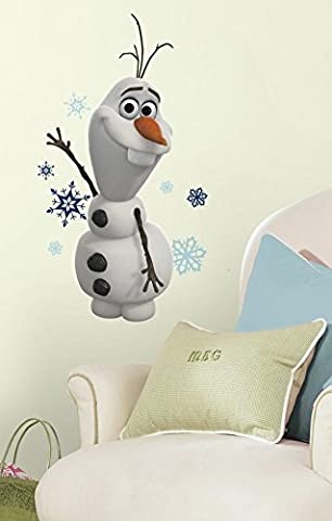 Disney® Frozen -wallpaper murals-Disney Frozen Collection Wall Graphics-Frozen Olaf The Snowman Wall Decal Set- 25 pieces life-size action images that you stick on any smooth surface- high-grade vinyl that's tear and fade resistant-reusable Your little one will love it- (Olaf Wall Mural)