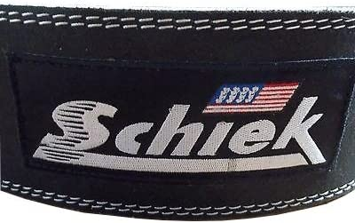Schiek Sports Model 6010 Leather Competition Power Lifting Belt – Black