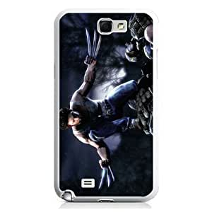 Wolverine Samsung Galalxy Note 2 n7100 White Phone Cases Protective