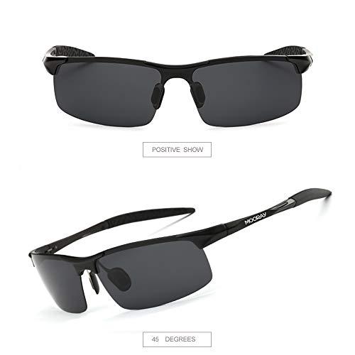 e9a13d6d05 MOORAY Mens Sports Polarized Sunglasses UV Protection Fashion Sunglasses  for Men Fishing Driving(Black