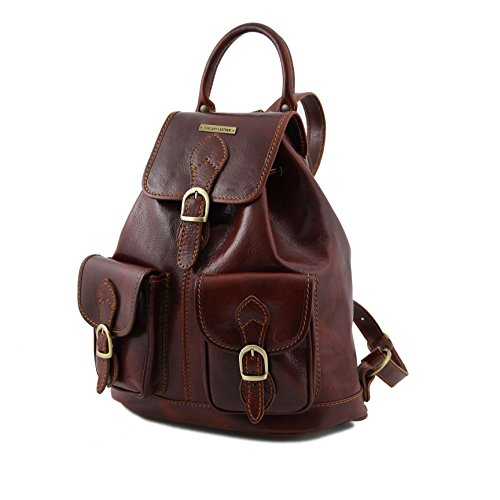 890354 - TUSCANY LEATHER: Tokyo Sac à dos en cuir, rouge