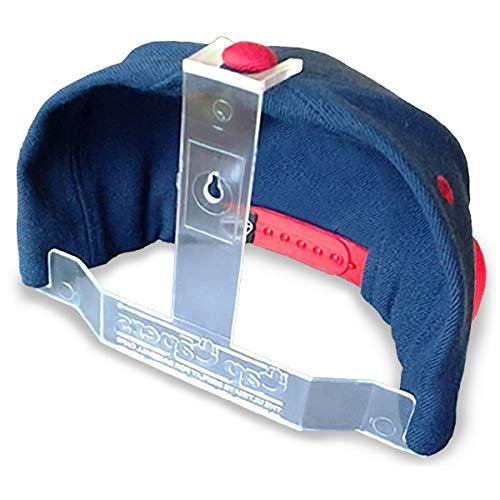 Baseball Cap Display; Wall Mounted Hat Rack; Baseball Cap Storage & Organization; Great for Cap Collectors (24)
