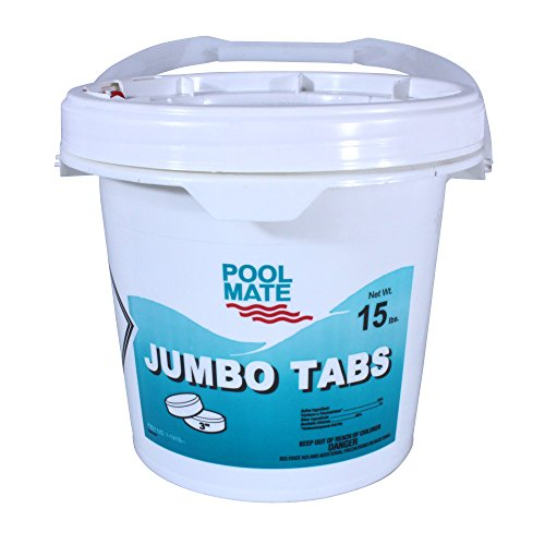 Pool Mate 1-1415 Jumbo 3-Inch Chlorine Tablets, 15-Pound (Best Price On Chlorine Tablets)