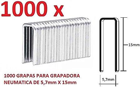 1000 GRAPAS DE 5,7mm X 15mm PARA GRAPADORA NEUMATICA PARKSIDE PDT40D3 ALEMAN GRAPAR: Amazon.es: Bricolaje y herramientas