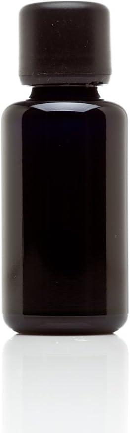 Infinity Jars 30 Ml (1 fl oz) 10-PACK Set Black Ultraviolet Glass Essential Oil Bottle w/Euro Dropper Cap