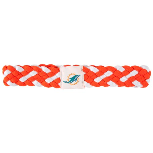 Miami Colors Dolphins (Littlearth NFL Miami Dolphins Braided Headband)
