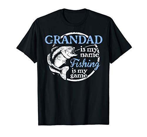 Mens Fishing Grandad Fathers Day Gift for Dad fisherman T-Shirt