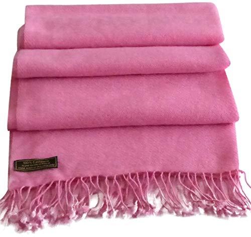 Pink High Grade 100% Cashmere Shawl Pashmina Hand Made in Nepal CJ ()