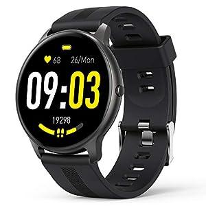 AGPTEK Montre Connectée Homme, Smartwatch Bluetooth 5.0 Sport Etanche IP68 Bracelet Connecté Fitness avec Tensiometre…