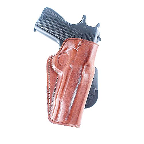 Premium Leather OWB Paddle Holster Open Top Fist, Sig P-210 Legend Target 9mm 5''BBL, Right Hand Draw, Brown Color #1267# - Open Top Sig