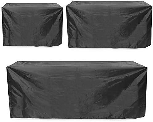 ガーデンテーブル カバー ポリエチレン織りの防水家具ソファベンチテーブル椅子カバー2/3/4座席庭屋外のテラスの家具カバーメイド 防水 防塵 多機能 家具カバー (色 : Black, Size : M)