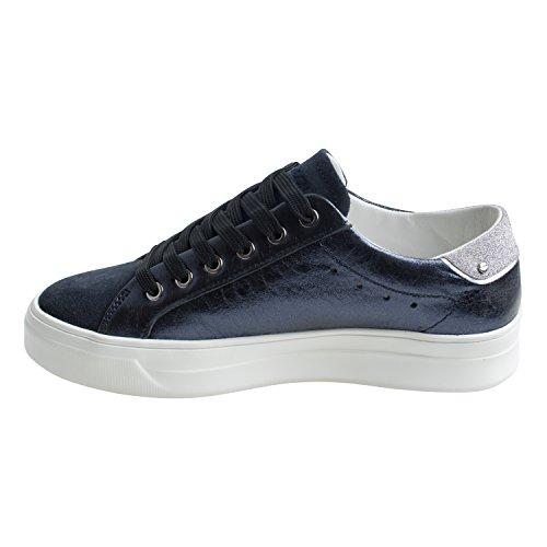 Crimine Londra Damen Sneaker Blau Blu Laminato