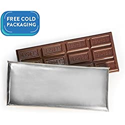 Wrapped Hershey's 1.55oz Milk Chocolate Bar - Silver Foil (100 count) - Free Cold Packaging