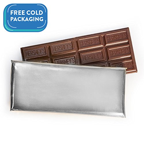 Wrapped Hershey's 1.55oz Milk Chocolate Bar - Silver Foil (24 count) - Free Cold Packaging