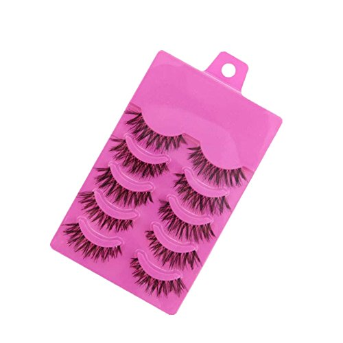 Start 5 Pair Natural Makeup Long Soft Dense Handmade False Eyelashes