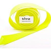 Trimz - Cincha, color amarillo neón, 5 m