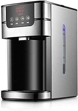 HIZLJJ Híbrido Agua de la Caldera y Calentador instantáneo, Botella Electricidad Agua Caliente de 4 litros, de Acero Oscuro Negro