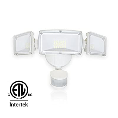 Barrina LED Security Light Outdoor Motion Sensor Light 39W (300W Incandescent Equivalent) 4000lm IP65 Waterproof 6000K (Super Bright White) Flood Light with Adjustable Head, ETL Listed
