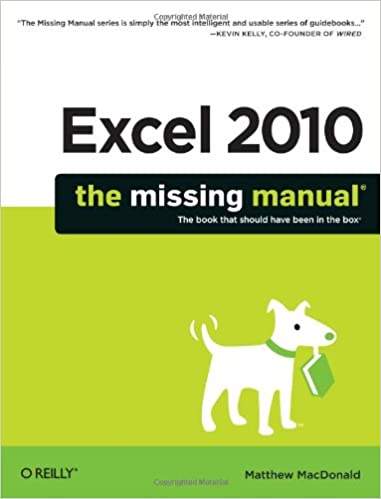 Excel The Missing Manual Matthew MacDonald - How do i create an invoice in excel 2010 christian book store online