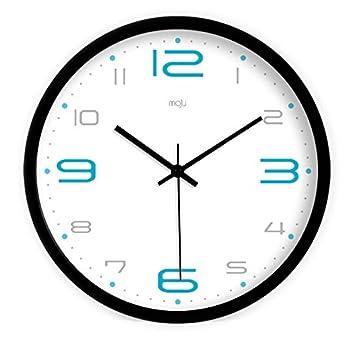 WERLM Página de inicio personalizada reloj de pared Reloj de pared Reloj digital azul es un restaurante familiar cocinas office escuelas son ideales para ...