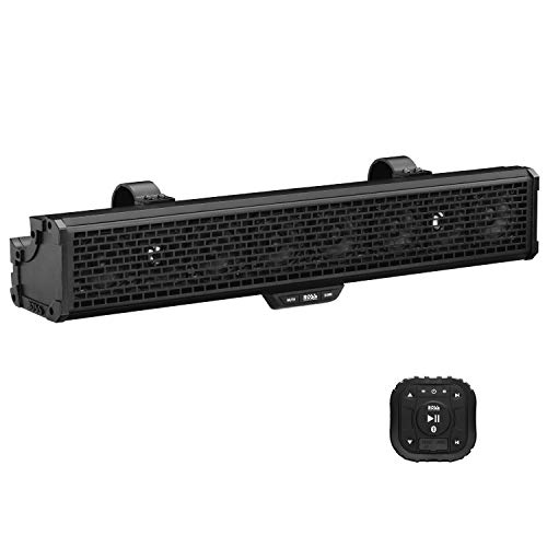 BOSS Audio Systems BRRC27 27 Inch Atv UTV Sound Bar - IPX5 Weatherproof, 3 Inch Speakers, 1 Inch Tweeters, Built-In Amplifier, Bluetooth Audio, Built-In Dome Lights
