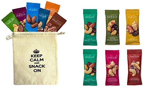 (Sahale Snacks All Natural Nut Blends Grab And Go Variety All 10-Flavors (1.5 oz x 12 CT Packs) with Organic Snack Pouch)