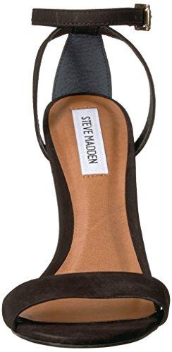 Sandalo Con Tacco In Pelle Steve Madden, Nabuk Nero