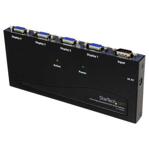 - StarTech.com ST124PRO 4 Port High Resolution VGA Video Splitter - 350 MHz