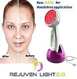 Rejuven Light 2.0 LED Light therapy w/ 4 Interchangeable heads Anti aging device, skin rejuvenation, lightens dark spots, promotes collagen and reduce wrinkles and fine lines (Rejuven Light)