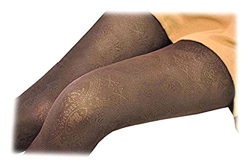 SACASUSA Stretchy Microfiber Patterned Tights