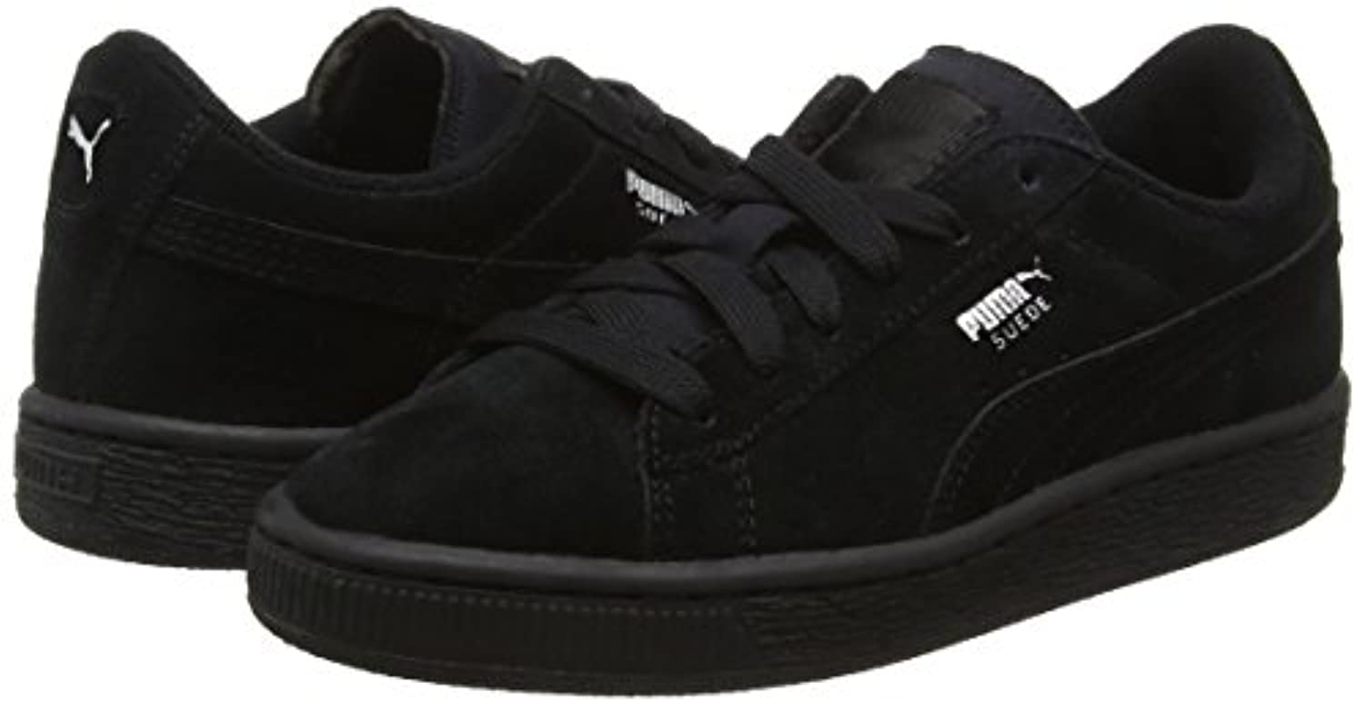 Puma Unisex Kids' Suede Ps Low-Top Trainers, Black (Black/Silver 52), 1 UK 33 EU