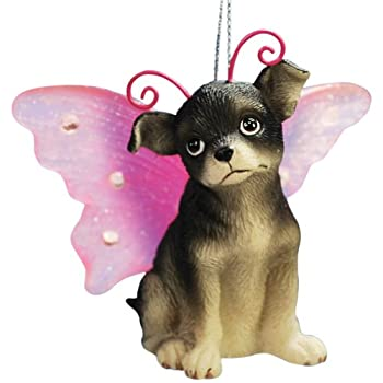 """WL SS-WL-21605 Chihuahua Puppy Dog with Fairy Wings Christmas Ornament, 2.25"""""""