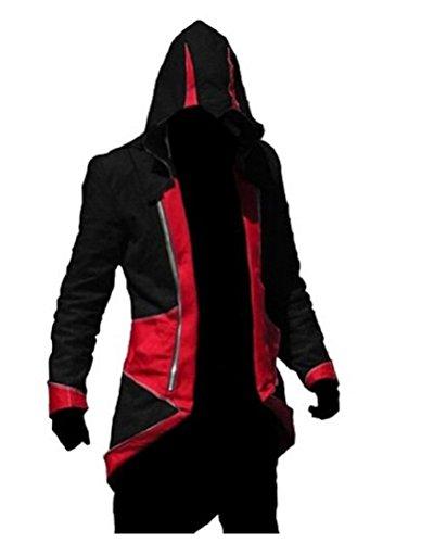 QualityBuyNow Cosplay Costume HoodieJacketCoatBlack Red Men XXL