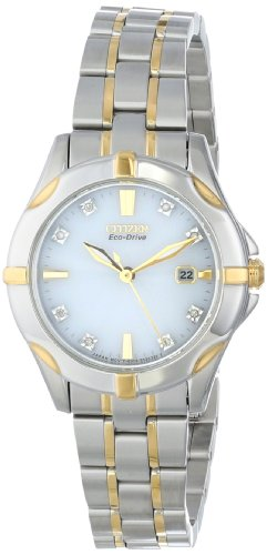 Bracelet Eco Drive Tone Two (Citizen Eco-Drive Women's EW1934-59A Stainless Steel Two-Tone Watch with Diamonds)