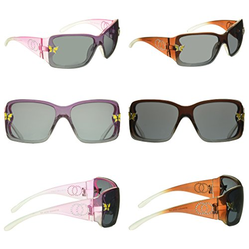 Kids Sunglasses Girls Baby 2 Pairs Set, UV 100% Protected. 2 to 10 years old