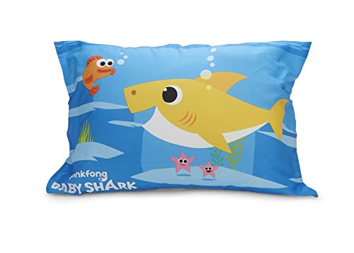 Baby Shark 4 Piece Toddler Bedding Set - Includes Quilted Comforter, Fitted Sheet, Top Sheet, and Pillow Case 5