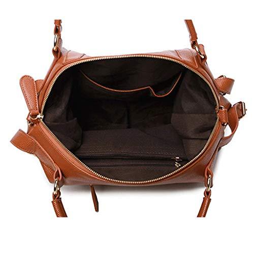 Bag Angoter Handle Bags Cuscino Tote Spalla Marrone Messenger Top Crossbody Litchi Grano Donne Del Ragazze Pu rtqHrE