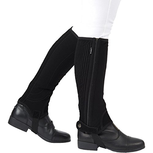 Dublin Childs Easy Care Half Chaps Large Black