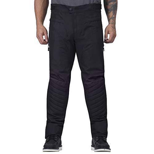 Viking Cycle Debonair Textile Motorcycle Pants for Men (Black, Large)