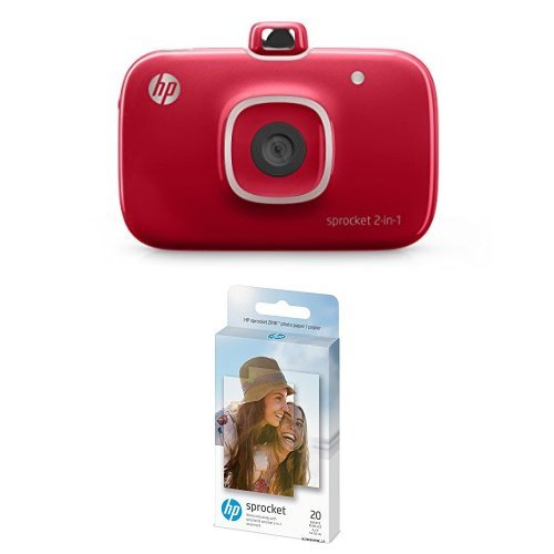 "Hp Sprocket Portable Photo Printer, Print Social Media Photos On 2x3"" Sticky Backed Paper   Purple (Z9 L25 A) With Sticky Backed 20 Sheets by Hp"