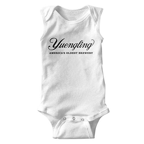 (ORYSJDGTS Kids Sleeveless Yuengling-Beer-America's-Oldest-Brewery-Sign- Organic Cotton Romper for Cute Toddler)