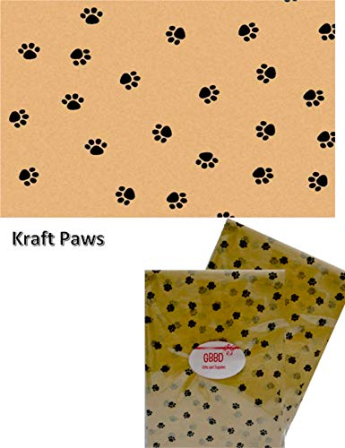 Paw Print Tissue - Animal Print Tissue Paper for Gift Wrapping 24 Decorative Sheets 20