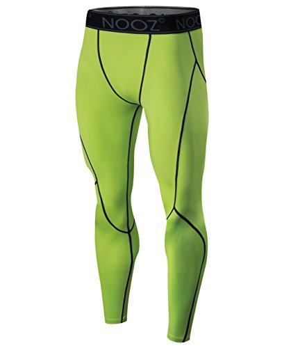 Nooz Men's Cool Dry Powerflex Compression Baselayer Pants Legging Shorts Tights - Medium, Green for $<!--$14.99-->