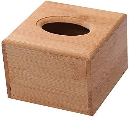 YWSZJ ティッシュボックス-アルパインインダストリーズ木製竹製スクエアティッシュボックスカバーエコフレンドリープルキューブディスペンサーバスルームカー用装飾ホルダーオーガナイザー (Size : Small)