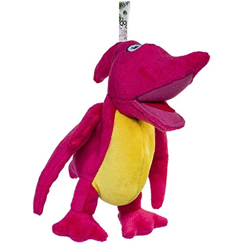 goDog Dinos Pterodactyl Plush Dog Toy with Chew Guard Technology, Small, Pink