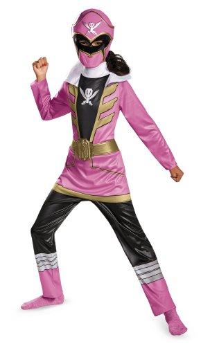 Disguise Saban Super MegaForce Power Rangers Pink Ranger Classic Girls Costume, -