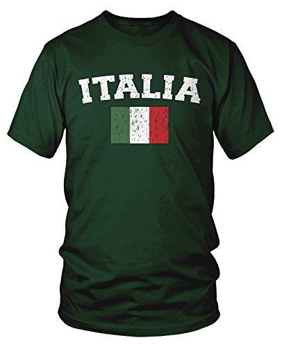 - Amdesco Men's Italian Flag, Flag of Italy, Love Italia T-Shirt, Forest Green 3XL