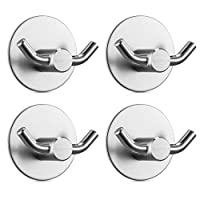 Jekoo 3M Adhesive Hooks Wall Hangers Command Hooks Heavy Duty Door Hooks for Hanging