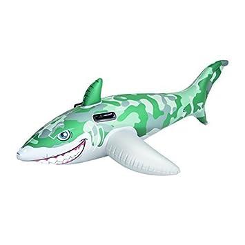Bestway ejército Camo inflable piloto de tiburón piscina flotador con asas: Amazon.es: Deportes y aire libre